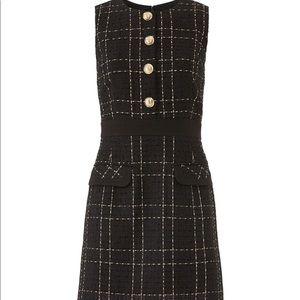 Slate & Willow Black tweed Checkered Dress